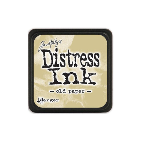 Tim Holtz Ranger Distress MINI Ink Pad - Old Paper - Hallmark Scrapbook