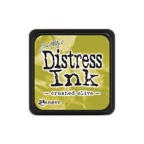 Tim Holtz Ranger Distress MINI Ink Pad - Crushed Olive - Hallmark Scrapbook