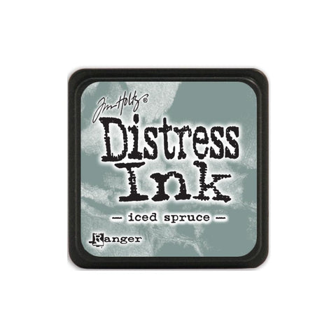 Tim Holtz Ranger Distress MINI Ink Pad - Iced Spruce - Hallmark Scrapbook