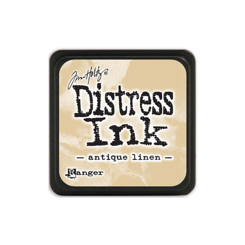 Tim Holtz Ranger Distress MINI Ink Pad - Antique Linen - Hallmark Scrapbook