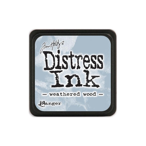 Tim Holtz Ranger Distress MINI Ink Pad - Weathered Wood - Hallmark Scrapbook