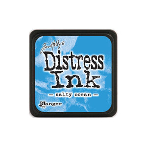 Tim Holtz Ranger Distress MINI Ink Pad - Salty Ocean - Hallmark Scrapbook