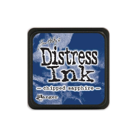 Tim Holtz Ranger Distress MINI Ink Pad - Chipped Sapphire - Hallmark Scrapbook