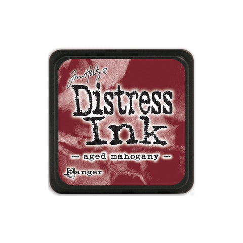 Tim Holtz Ranger Distress MINI Ink Pad - Aged Mahogany - Hallmark Scrapbook