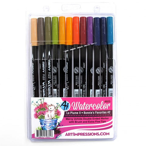 Art Impressions - Bonnies Favorites - Watercolor Pen Set 2