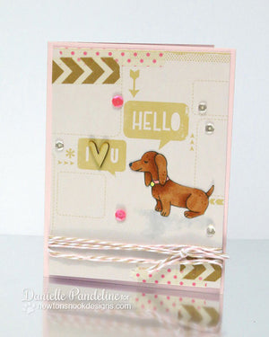 Newton's Nook Designs - DELIGHTFUL DOXIES Clear Stamps - Hallmark Scrapbook - 4