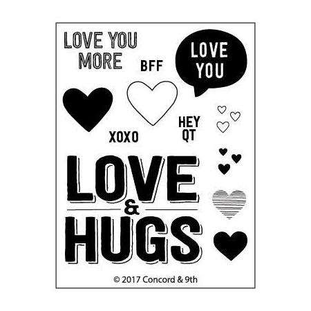 Copy of Concord & 9th - LOVE & HUGS - Stamp Set