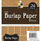 "Die Cuts With A View - The BURLAP PAPER Stack - 6""X6"" 24/PKG"