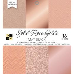 "Die Cuts With A View - SOLID ROSE GOLD - Single-Sided Cardstock - 6""X6"" 18/PKG"
