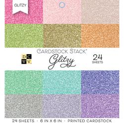 "Die Cuts With A View - GLITZY - Single-Sided Cardstock - 6""X6"" 18/PKG"