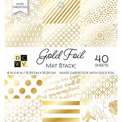 "Die Cuts With A View - GOLD FOIL - Single-Sided Cardstock - 6""X6"" 40/PKG"
