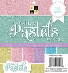 "Die Cuts With A View - GLITZY PASTELS - Single-Sided Cardstock - 6""X6"" 24/PKG *"