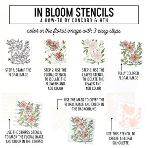 Concord & 9th - IN BLOOM - Stencil Pack