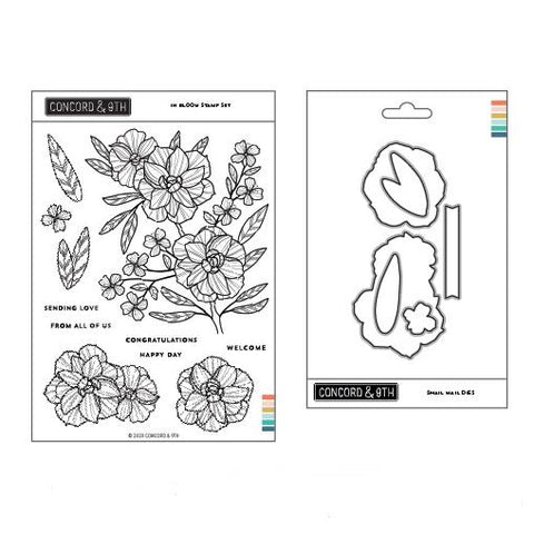 Concord & 9th - IN BLOOM - Stamps and Dies BUNDLE Set