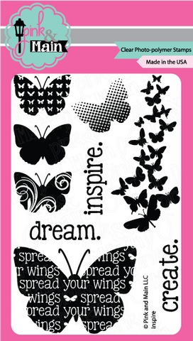 Pink & Main - INSPIRE - Clear Stamps