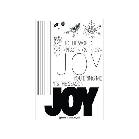 Concord & 9th - JOY Stamps Set - Hallmark Scrapbook - 1