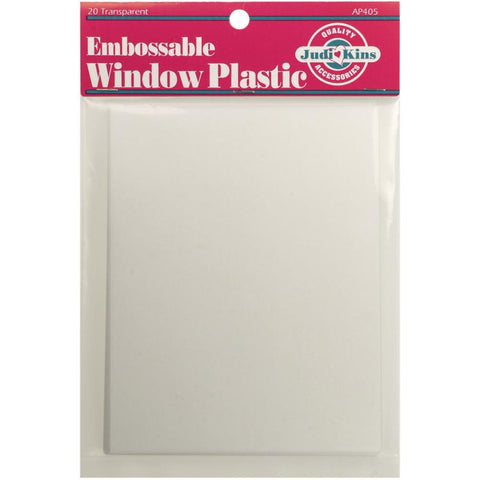 Judikins - EMBOSSABLE WINDOW PLASTIC Acetate - 20 pk - Hallmark Scrapbook