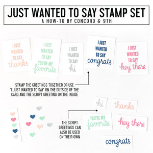Concord & 9th - JUST WANTED TO SAY - Stamps Set