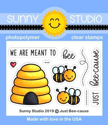 Sunny Studio - JUST BEE-CAUSE - Stamp Set