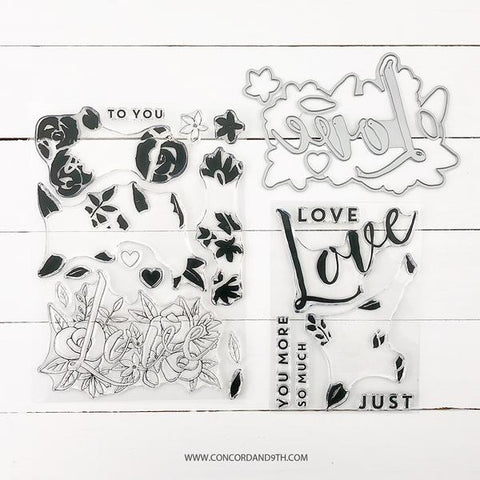 Concord & 9th - JUST LOVE Clear Stamps and Dies BUNDLE Set