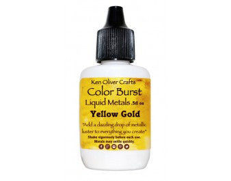 Ken Oliver Crafts - Color Burst Liquid Metals - Metallic YELLOW GOLD - Hallmark Scrapbook - 1