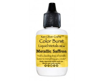 Ken Oliver Crafts - Color Burst Liquid Metals - Metallic SAFFRON - Hallmark Scrapbook - 1