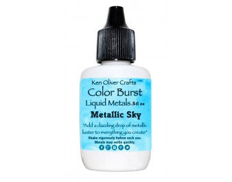 Ken Oliver Crafts - Color Burst Liquid Metals - Metallic SKY - Hallmark Scrapbook