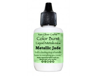 Ken Oliver Crafts - Color Burst Liquid Metals - Metallic JADE - Hallmark Scrapbook - 5