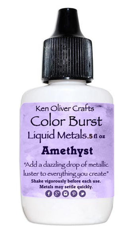 Ken Oliver Crafts - Color Burst Liquid Metals - Metallic AMETHYST - Hallmark Scrapbook - 1