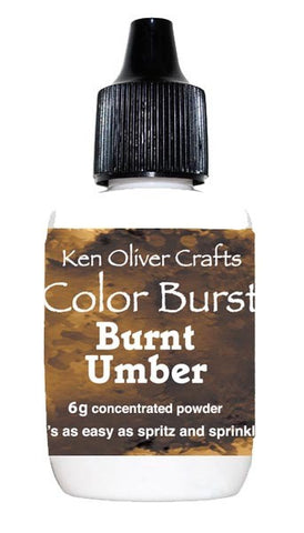 Ken Oliver Crafts - Color Burst - BURNT UMBER - Hallmark Scrapbook - 1