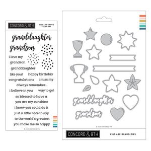 Concord & 9th - KIDS ARE GRAND - Stamps and Dies BUNDLE Set