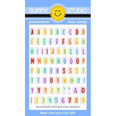 Sunny Studio - KINSLEY ALPHABET - Stamp Set
