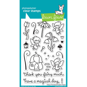 Lawn Fawn - FAIRY FRIENDS - Clear STAMPS - Hallmark Scrapbook - 1