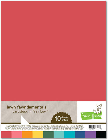 Lawn Fawn - RAINBOW Cardstock Collection 8.5x11 Paper Pack - Hallmark Scrapbook - 1