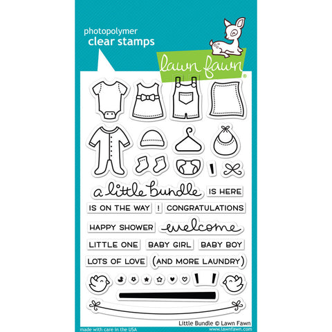 Lawn Fawn - LITTLE BUNDLE - Clear STAMPS - Hallmark Scrapbook - 1