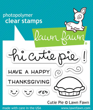 Lawn Fawn - CUTIE PIE - Stamp Set - Hallmark Scrapbook - 1