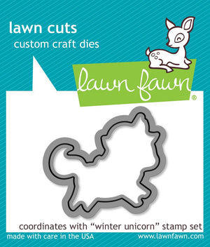Lawn Fawn - WINTER UNICORN - Lawn Cuts DIE - Hallmark Scrapbook - 1