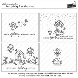 Lawn Fawn - FROSTY FAIRY FRIENDS - Lawn Cuts DIES - Hallmark Scrapbook - 6