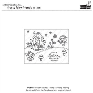 Lawn Fawn - FROSTY FAIRY FRIENDS - Lawn Cuts DIES - Hallmark Scrapbook - 5