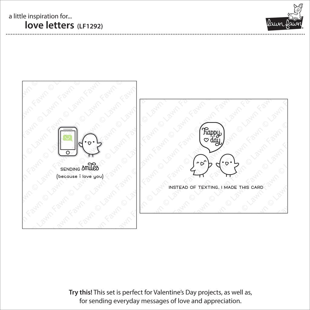 Lawn Fawn - LOVE LETTERS - Clear STAMPS