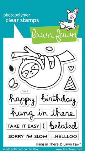 Lawn Fawn - HANG IN THERE - Clear Stamps set