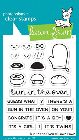 Lawn Fawn - Bun In The Oven - CLEAR STAMPS