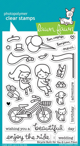 Lawn Fawn - BICYCLE BUILT FOR YOU - Clear STAMPS