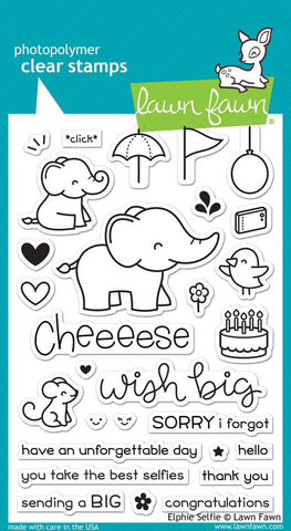 Lawn Fawn - ELPHIE SELFIE - Clear STAMPS