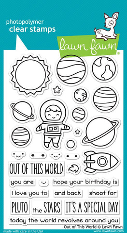 Lawn Fawn - OUT OF THIS WORLD - Clear STAMPS