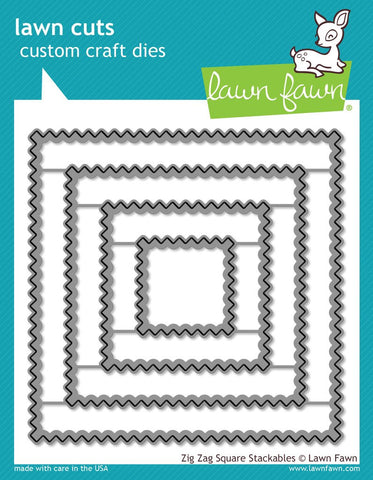 Lawn Fawn - ZIG ZAG SQUARE STACKABLES - Lawn Cuts Dies