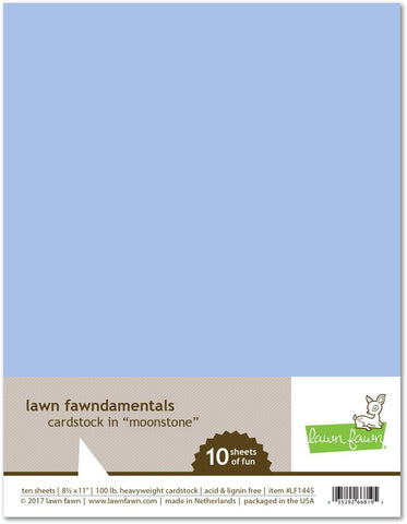 Lawn Fawn - MOONSTONE Cardstock 8.5x11 Paper Pack