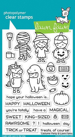 Lawn Fawn - COSTUME PARTY - Clear Stamps Set
