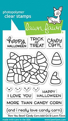 Lawn Fawn - How you Bean? CANDY CORN Add-On - Clear Stamps Set