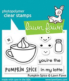Lawn Fawn - PUMPKIN SPICE - Clear Stamps Set *